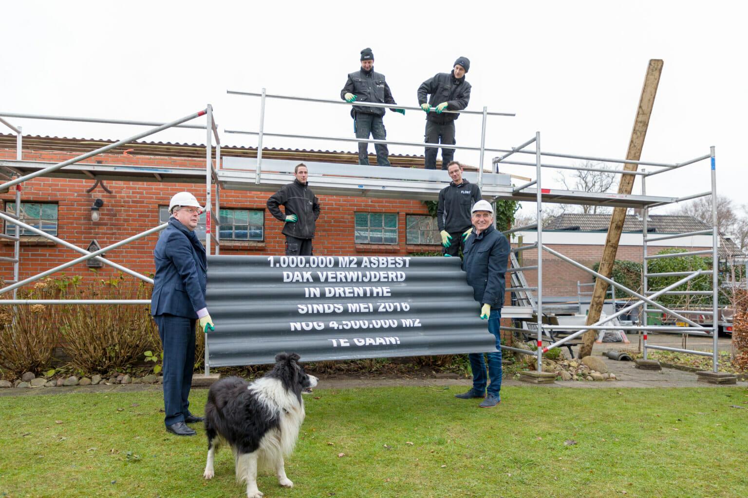 Miljoenste vierkante meter asbestdak geïnventariseerd in Weerdinge