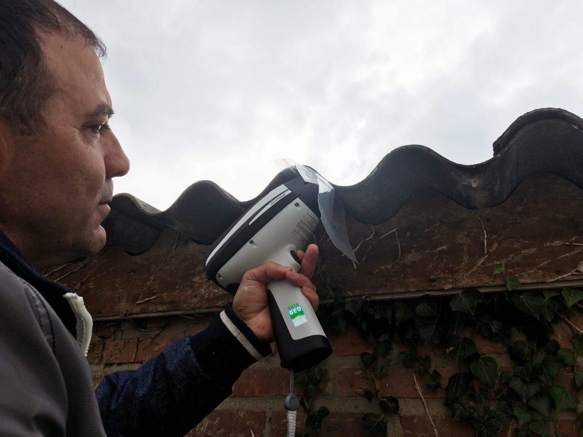 Ortageo test handheld asbestanalyzer in de praktijk